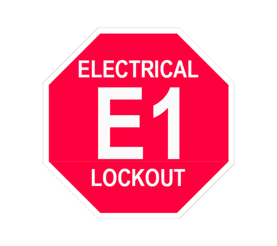 Electrical Lockout E1 Lockout Tag